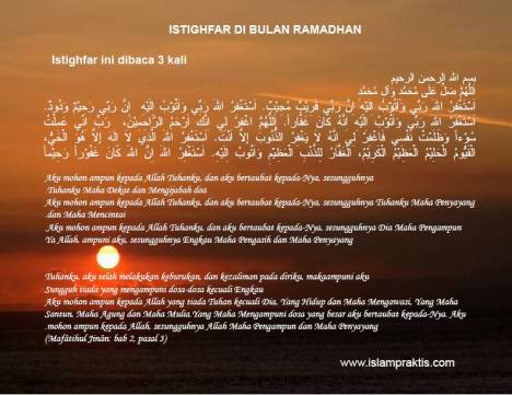 Istighfar di bln Ramadhan